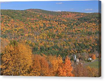 Fall Foliage On The Appalachian Trail Tyringham Cobble Canvas Print by John Burk