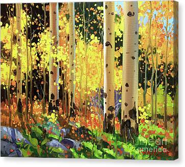 Fall Forest Symphony I Canvas Print by Gary Kim