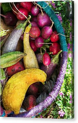 Canvas Print featuring the photograph Fall Harvest Basket by Michael Moriarty