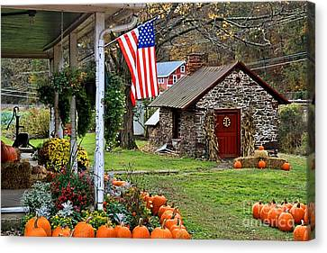 Canvas Print featuring the photograph Fall Harvest - Rural America by DJ Florek