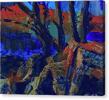 Fall Hiking Trail 1 Canvas Print by Walter Fahmy