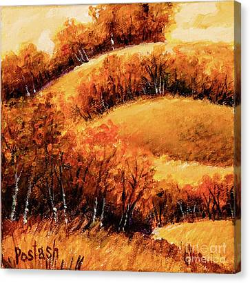 Canvas Print featuring the painting Fall by Igor Postash