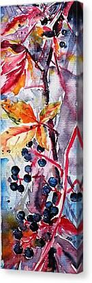 Canvas Print featuring the painting Fall II by Kovacs Anna Brigitta