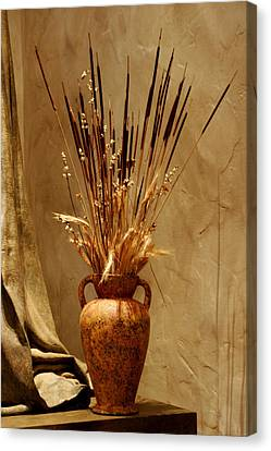 Fall In A Vase Still-life Canvas Print by Christine Till