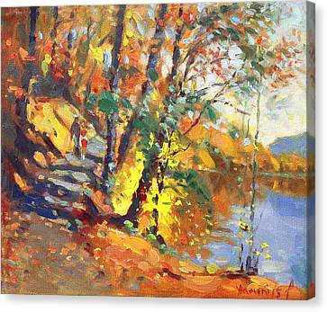 Fall In Bear Mountain Canvas Print by Ylli Haruni