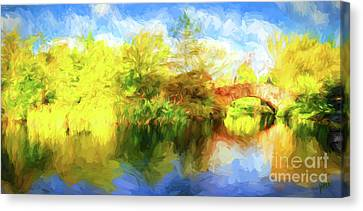 Canvas Print featuring the photograph Fall In Central Park by Jim  Hatch