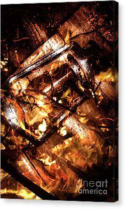 Fall In Fire Canvas Print