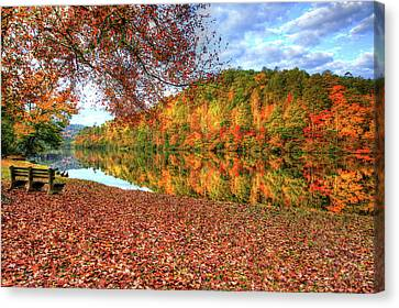 Canvas Print featuring the digital art Fall In Murphy, North Carolina by Sharon Batdorf