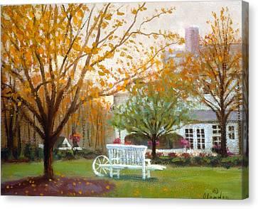 Fall In Nj Canvas Print by David Olander
