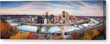 Fall In Pittsburgh  Canvas Print by Emmanuel Panagiotakis
