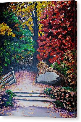 Fall In Quebec Canada Canvas Print by Karin  Dawn Kelshall- Best