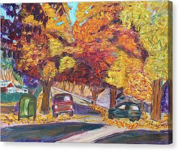 Fall In Santa Clara Canvas Print by Carolyn Donnell