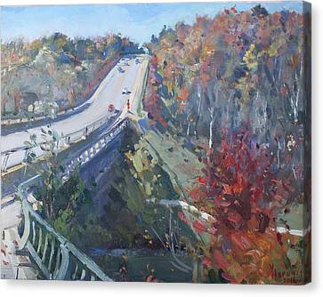 Fall In Silver Creek Georgetown  Canvas Print by Ylli Haruni
