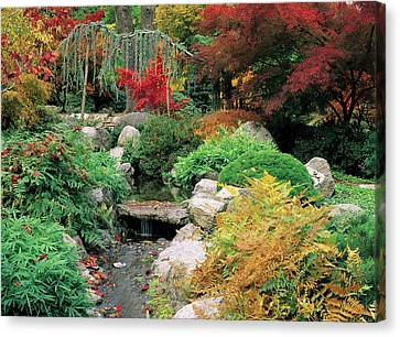 Fall In The Japanese Garden Canvas Print by Jim Nelson