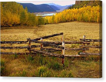 Fall In The Rockies 2 Canvas Print by Marty Koch