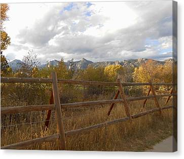 Fall In The Rockies Canvas Print by Julie Grace