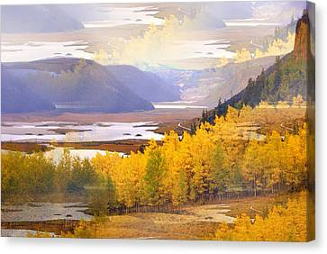 Fall In The Rockies Canvas Print by Marty Koch