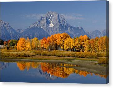 Fall In The Tetons Canvas Print by Eric Foltz