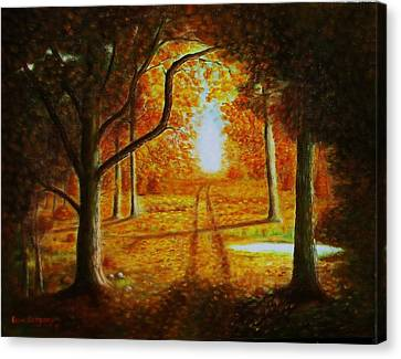 Fall In The Woods Canvas Print