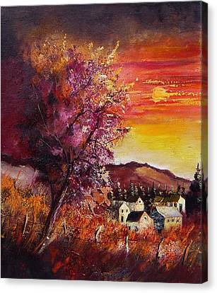 Fall In Villers Canvas Print by Pol Ledent