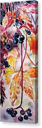 Canvas Print featuring the painting Fall by Kovacs Anna Brigitta