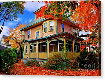 Fall Leaves Brooklyn New York Canvas Print