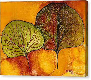 Fall Leaves  Canvas Print by Susan Kubes