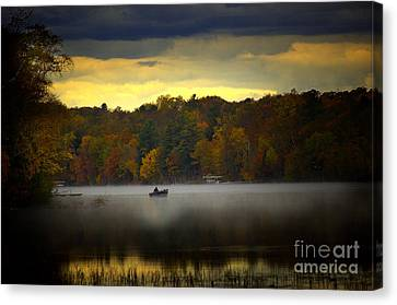 Fall Morn On The Chippiwa Canvas Print by The Stone Age