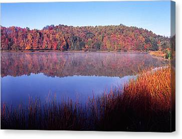 Fall Morning On The Lake Canvas Print by Thomas R Fletcher