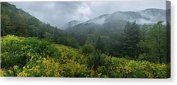 Fall Mountain Pano Canvas Print by Jurgen Lorenzen