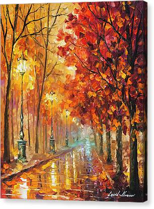 Fall Night Canvas Print by Leonid Afremov