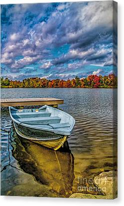 Canvas Print featuring the photograph Fall On Alloway Lake by Nick Zelinsky