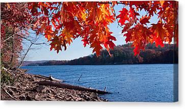 Deep River County Park Canvas Print - Deep Creek Lake Fall I by Neal Blizzard