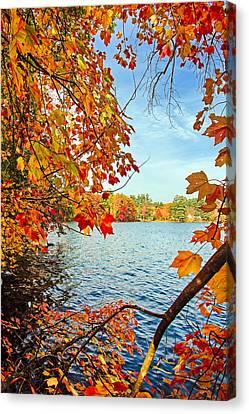 Fall On Lake Opechee Canvas Print