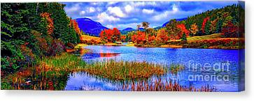 Canvas Print featuring the photograph Fall On Long Pond Acadia National Park Maine  by Tom Jelen