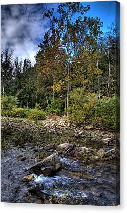 Canvas Print featuring the photograph Fall On The Hailstone by Michael Dougherty