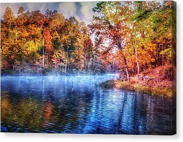 Canvas Print featuring the photograph Fall On The Lake by Debra and Dave Vanderlaan
