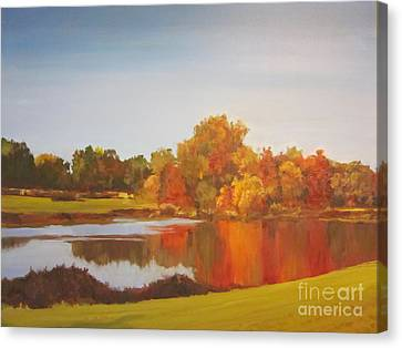 Fall Perfection Canvas Print by Elizabeth Carr
