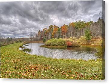 Kathy Rinker Canvas Print - Fall Pond by Kathleen Rinker