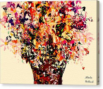 Fall Radiance Bouquet Canvas Print by Natalie Holland