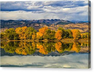 Fall Reflection Canvas Print by Juli Ellen