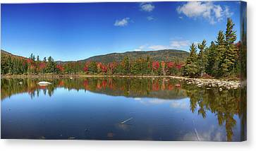 Fall Reflections In The White Mountains Canvas Print by John Haldane