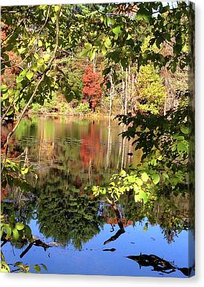 Fall Reflections Canvas Print by Nancy Landry