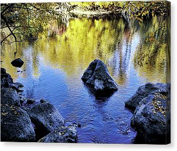 Fall Reflections Odessa Creek Canvas Print by Jim Nelson