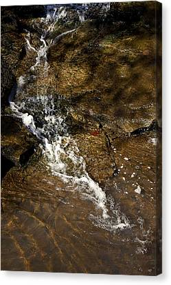 Canvas Print featuring the photograph Fall Runoff At Broadwater Falls by Michael Dougherty