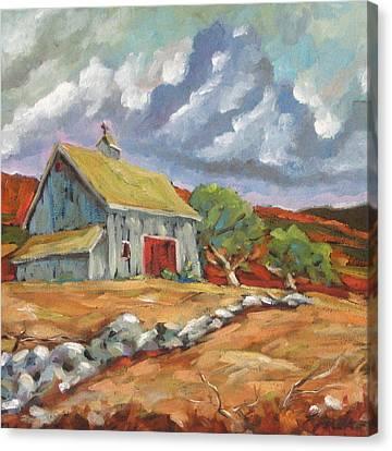 Fall Scene Canvas Print by Richard T Pranke