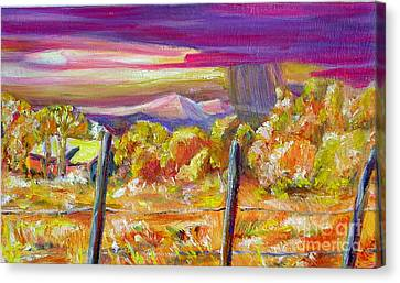 Fall Skies In Nm Canvas Print by George Chacon