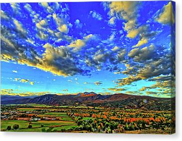 Fall Sky Canvas Print by Scott Mahon