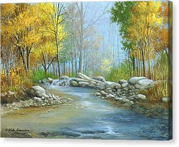 Fall Solitude Canvas Print by Mike Brown