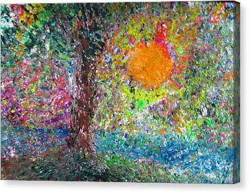 Fall Sun Canvas Print by Jacqueline Athmann